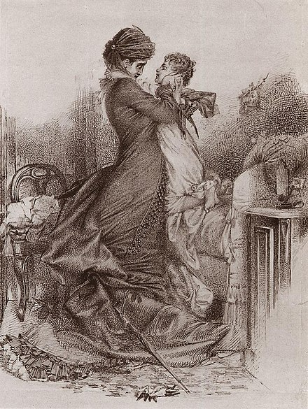 Ana Karenina con su hijo por Mijaíl Vrúbel